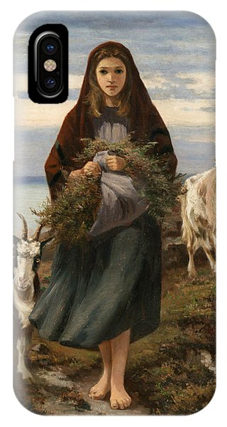 Famous Artist iPhone Case - Connemara Girl by Augustus Nicholas Burke