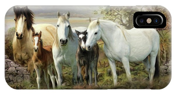 Connemara Ponies IPhone Case