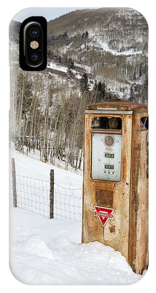 IPhone Case featuring the photograph Conoco In The Snow by Denise Bush