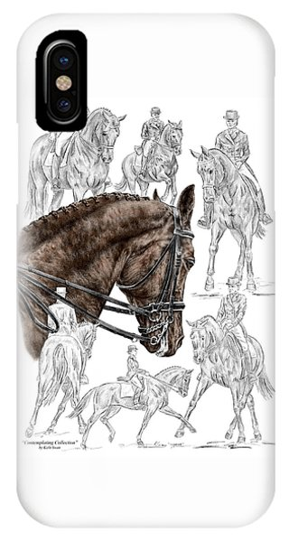 Contemplating Collection - Dressage Horse Print Color Tinted IPhone Case