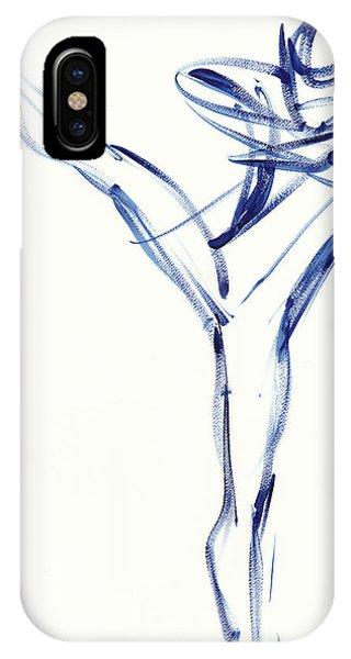 Contemporary Ballet Dancer, Blue IPhone Case