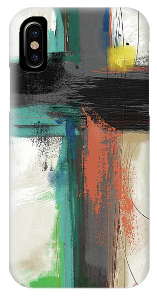 Christian Cross iPhone Case - Contemporary Cross 2- Art By Linda Woods by Linda Woods
