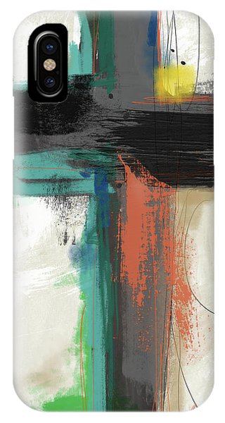 Cross iPhone X Case - Contemporary Cross 2- Art By Linda Woods by Linda Woods