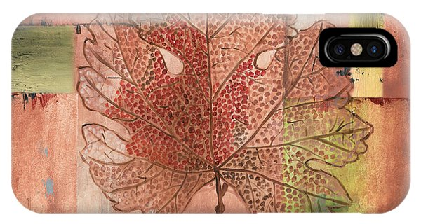 Contemporary Grape Leaf IPhone Case