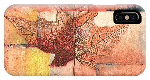 Nature Abstract iPhone Case - Contemporary Leaf 2 by Debbie DeWitt