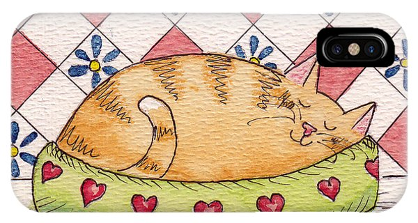Contented Kitty IPhone Case