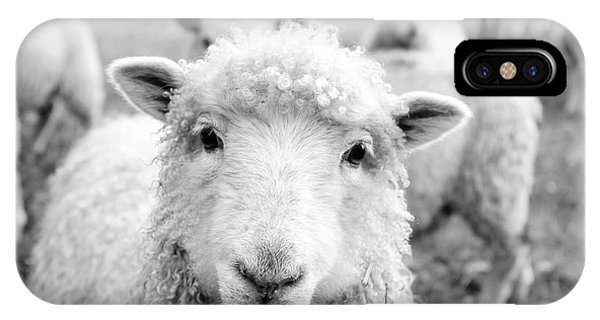 Sheep iPhone X / XS Case - Contentment by Pixabay