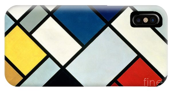 Square iPhone Case - Contracomposition Of Dissonances by Theo van Doesburg