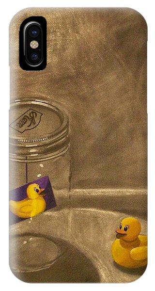 Conversing Ducks IPhone Case