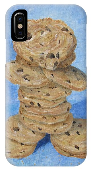 IPhone Case featuring the painting Cookie Monster by Nancy Nale