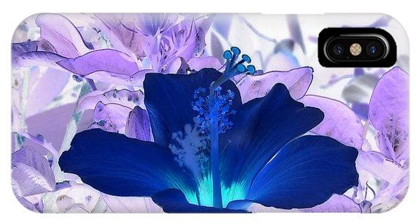 Cool Blue Hawaiian Hibiscus IPhone Case