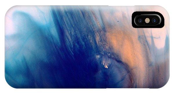 Cool Blue Liquid Abstract Art Fluid Painting By Kredart IPhone Case