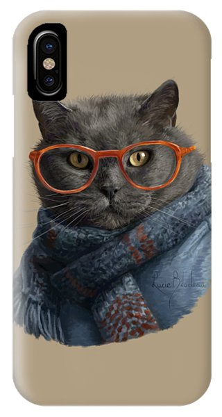 Cool iPhone Case - Cool Cat by Lucie Bilodeau