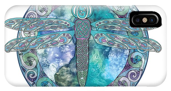 Cool Celtic Dragonfly IPhone Case