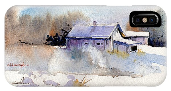 New England Barn iPhone Case - Cool Country Barn by P Anthony Visco