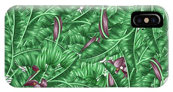 Leaf iPhone Case - Cool Tropic  by Mark Ashkenazi
