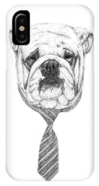 Office iPhone Case - Cooldog by Balazs Solti