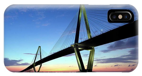 Cooper River Bridge Charleston Sc IPhone Case