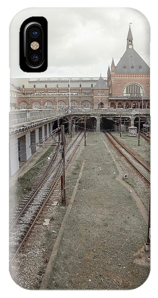 Passenger Train iPhone Case - Copenhagen Central Station by Betsy Knapp