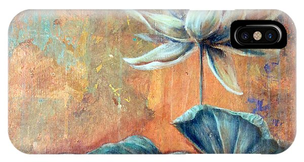 IPhone Case featuring the painting Copper Lotus by Ashley Kujan