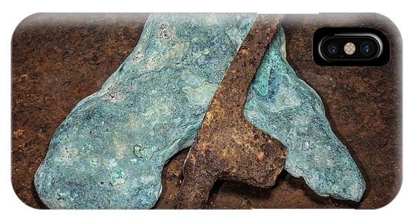Copper Nugget Rock Hammer IPhone Case