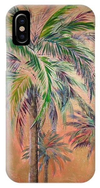 Copper Trio Of Palms IPhone Case