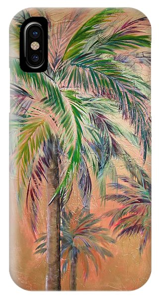 Copper Trio Of Palms IPhone Case