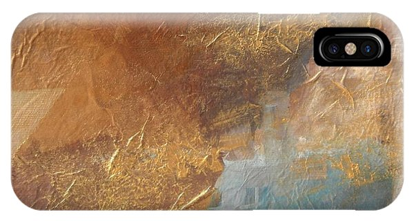 Copper Turquoise Abstract IPhone Case