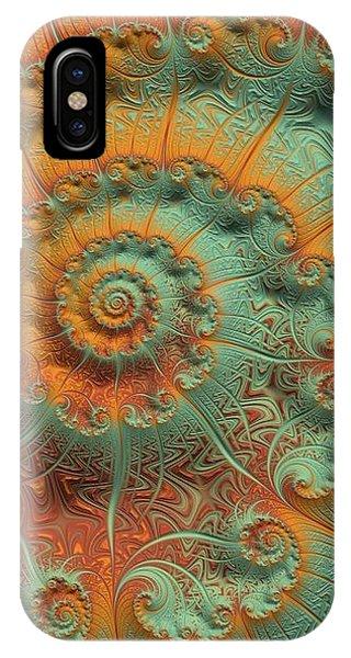 Copper Verdigris IPhone Case
