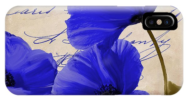 Red Flower iPhone Case - Coquelicots Bleue by Mindy Sommers