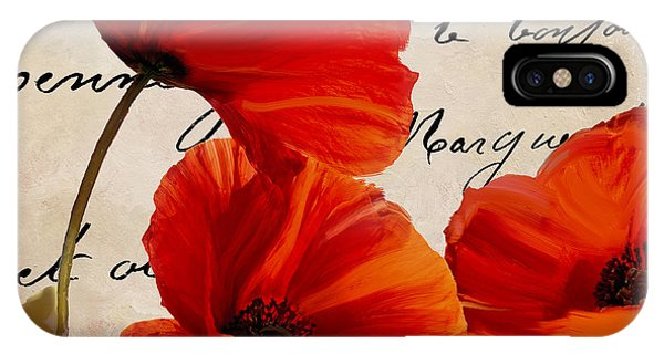 Red Flower iPhone Case - Coquelicots Rouge I by Mindy Sommers
