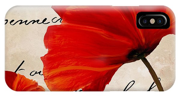 Red Flower iPhone Case - Coquelicots Rouge II by Mindy Sommers