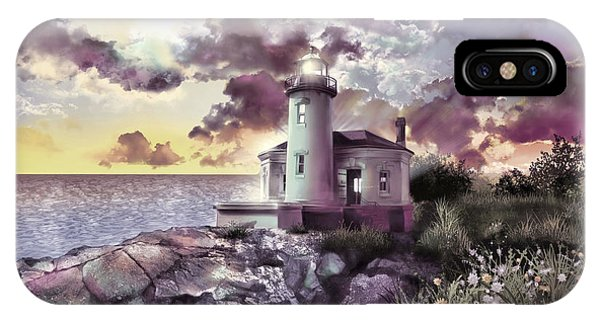Coquille River Lighthouse 2 IPhone Case