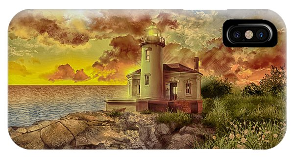 Coquille River Lighthouse 4 IPhone Case