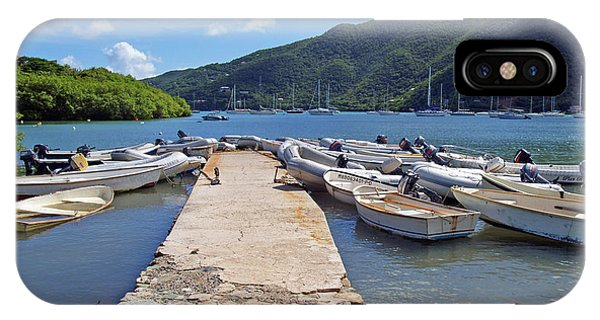Coral Bay Dinghy Dock IPhone Case