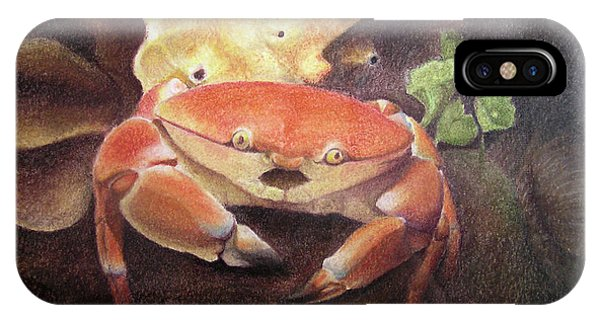 Coral Crab IPhone Case