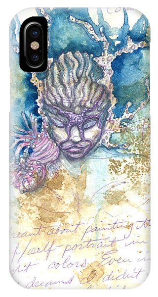 IPhone Case featuring the painting Coral Head by Ashley Kujan