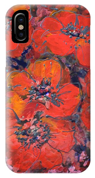 Coral Poppies IPhone Case