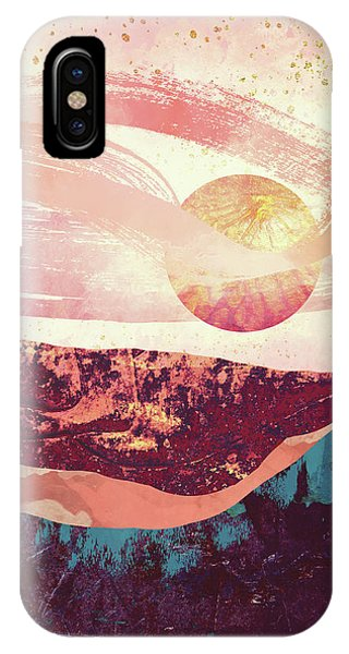 Abstract Landscape iPhone Case - Coral Sky by Katherine Smit