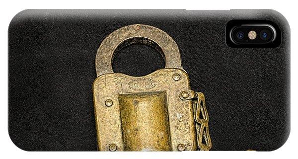 Corbin Padlock IPhone Case