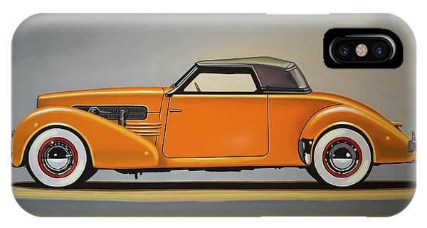 Oldtimer iPhone Case - Cord 810 1937 Painting by Paul Meijering
