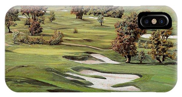 Golf iPhone Case - Cordevalle Golf Course by Guido Borelli