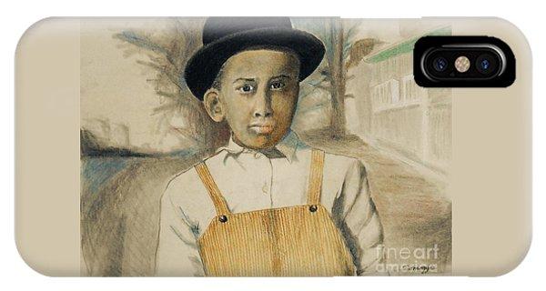 Corduroy Overalls,1942 -- Retro Portrait Of African-american Child IPhone Case