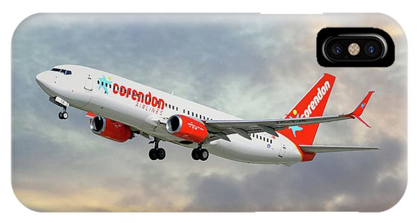 Airline iPhone Case - Corendon Airlines Boeing 737-81b by Smart Aviation