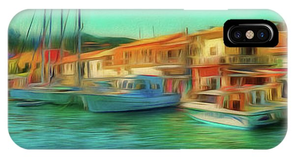 IPhone Case featuring the photograph Corfu 14 - Panorama Of Lakka On Paxos by Leigh Kemp