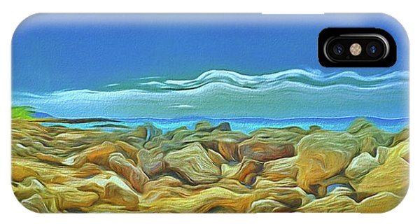 IPhone Case featuring the photograph Corfu 3 - Surreal Rocks by Leigh Kemp