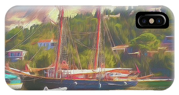 IPhone Case featuring the photograph Corfu 35 Tall Ship In Paxos by Leigh Kemp