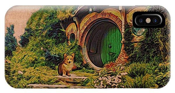 Corgi At Hobbiton IPhone Case