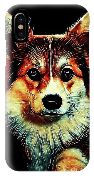 Corgi Portrait IPhone Case