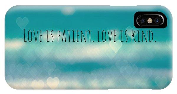 Love iPhone Case - Corinthians 13 by Brandi Fitzgerald